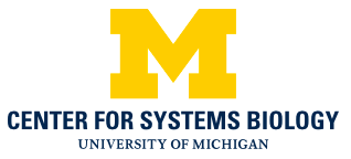 Official Center for Systems Biology University of Michigan Stacked Block M Logo